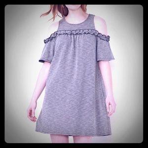 NWT Lauren Conrad Cold Shoulder Gingham Dress M